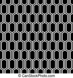 Seamless vintage honeycomb lattice trellis pattern.