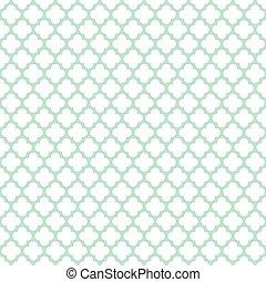 Seamless Vintage Trellis Lattice Moroccan Quatrefoil Pattern Background