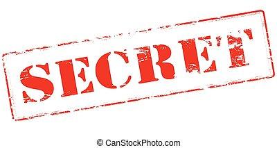 Rubber stamp with word secret inside, vector illustration