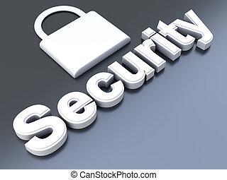 Security symbol. 3D rendered Illustration.