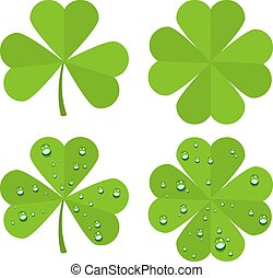 Set clover leaves isolated