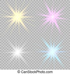 Set glowing lights effects