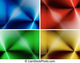 Set of abstract multicolored backgrounds