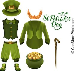 Set of accessories for St. Patricks Day