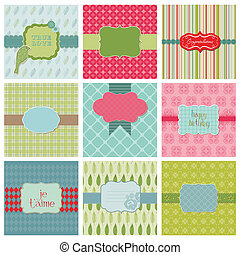 Set of Beautiful Cards - for birthday, wedding, congratulation, invitation, greetings in vector