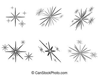 Set of bright stars for Christmas,