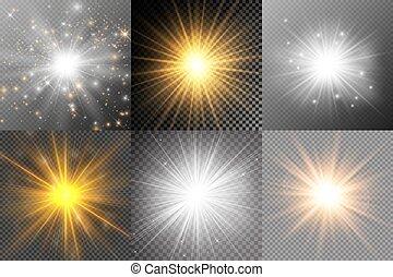Set of bright stars.
