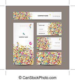 Set of business cards for your design