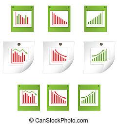 Set of business statistics. vector