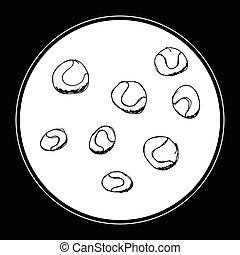 Set of cartoon style ball