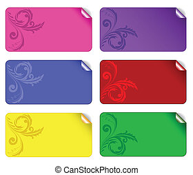 set of colored stickers 2