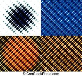 Set of dark abstract spectrum background lines. Vector