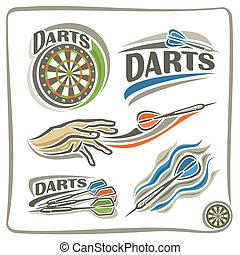 A set of illustrations on the theme of darts