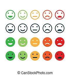Set of Feedback icon. Rating satisfaction.