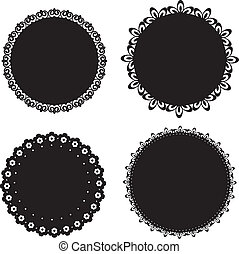 Set of napkin icons