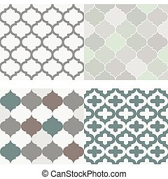 Set of seamless moroccan tile