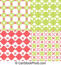 Set of seamless pattern moroccan style for christmas and new year