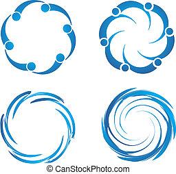 Set of Swirl swooshes
