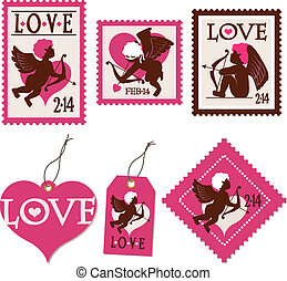 cupid stamps and tags