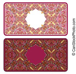 Set of vector abstract ornamental nature frames.