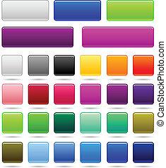 set of web square button