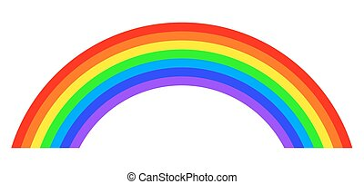 Seven colors rainbow illustration on white background