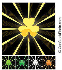 Shamrock and sunburst