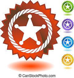 Sheriff Rope Badge Icon badge