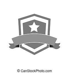 shield star banner icon