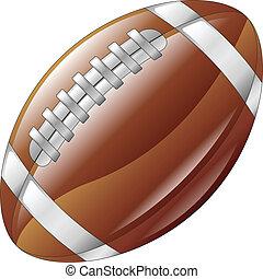 Shiny glossy american football ball icon