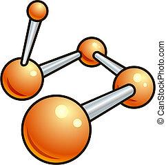 Shiny molecule illustration icon