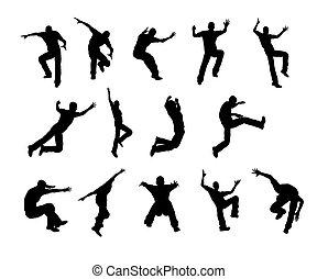 Silhouette Man jump