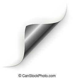 Silver page corner curl template.