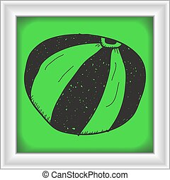 Simple doodle of a beach ball