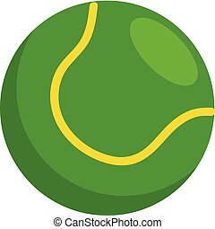 Simple vector illustration of a green tennis ball on white background