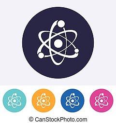 Single vector atom sign icon