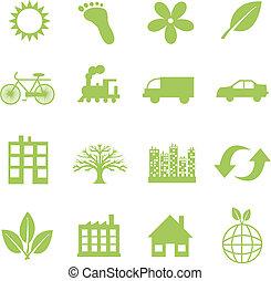 green ecology symbols