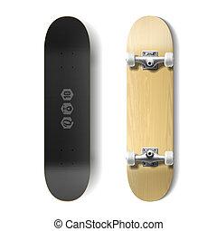Photorealistic skateboard illustration