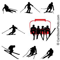 ski silhouettes collection