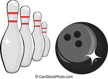 Skittles and black ball