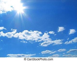 Sky, sun, clouds, background