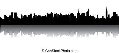 Silhouette of a skyline