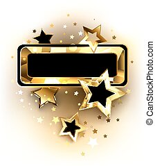 Small banner with golden stars