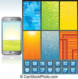 Smartphone Design Kit. Vector Collection