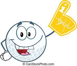 Golf Ball With Foam Finger