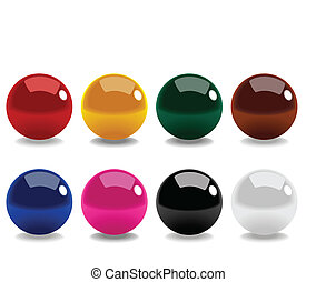 Stock vector of snooker balls isolated on white