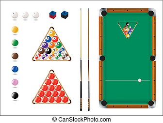 Sports Ball Icons for Pool, Snooker