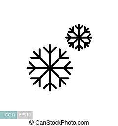 Snowflakes vector icon. Winter sign