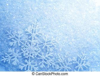Snowflakes. Winter Snow Background. Christmas