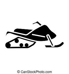 Snowmobile flat vector glyph icon